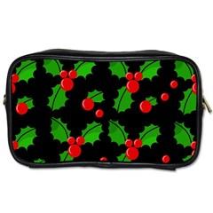 Christmas berries pattern  Toiletries Bags 2-Side