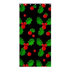 Christmas berries pattern  Shower Curtain 36  x 72  (Stall)