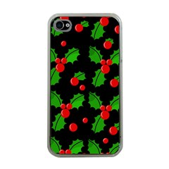 Christmas berries pattern  Apple iPhone 4 Case (Clear)