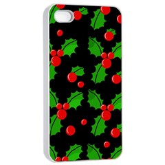 Christmas berries pattern  Apple iPhone 4/4s Seamless Case (White)