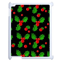Christmas berries pattern  Apple iPad 2 Case (White)