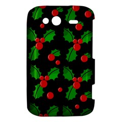Christmas berries pattern  HTC Wildfire S A510e Hardshell Case