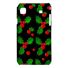 Christmas berries pattern  Samsung Galaxy S i9008 Hardshell Case
