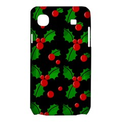 Christmas berries pattern  Samsung Galaxy SL i9003 Hardshell Case