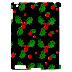 Christmas berries pattern  Apple iPad 2 Hardshell Case (Compatible with Smart Cover)