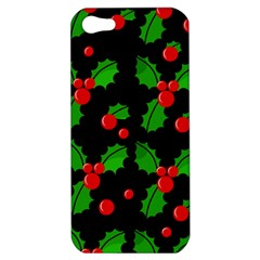 Christmas berries pattern  Apple iPhone 5 Hardshell Case