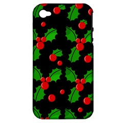 Christmas berries pattern  Apple iPhone 4/4S Hardshell Case (PC+Silicone)