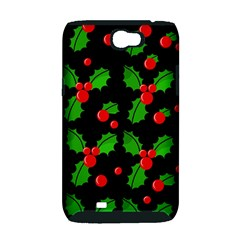 Christmas berries pattern  Samsung Galaxy Note 2 Hardshell Case (PC+Silicone)