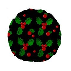 Christmas berries pattern  Standard 15  Premium Round Cushions