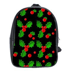 Christmas berries pattern  School Bags (XL)