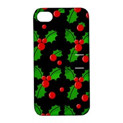 Christmas berries pattern  Apple iPhone 4/4S Hardshell Case with Stand