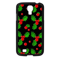 Christmas berries pattern  Samsung Galaxy S4 I9500/ I9505 Case (Black)
