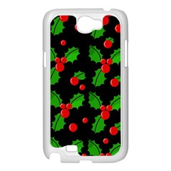 Christmas berries pattern  Samsung Galaxy Note 2 Case (White)