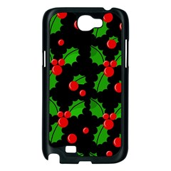 Christmas berries pattern  Samsung Galaxy Note 2 Case (Black)