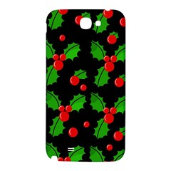 Christmas berries pattern  Samsung Note 2 N7100 Hardshell Back Case