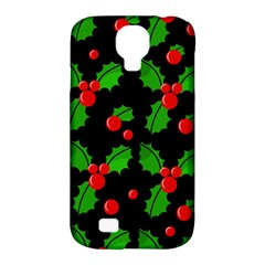 Christmas berries pattern  Samsung Galaxy S4 Classic Hardshell Case (PC+Silicone)