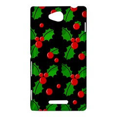 Christmas berries pattern  Sony Xperia C (S39H)