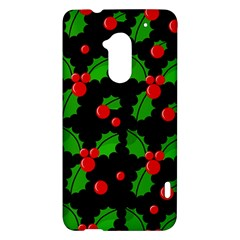 Christmas berries pattern  HTC One Max (T6) Hardshell Case