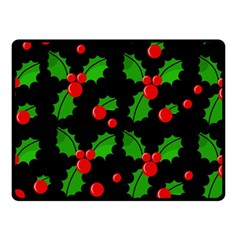 Christmas berries pattern  Double Sided Fleece Blanket (Small)