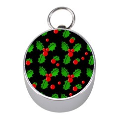 Christmas berries pattern  Mini Silver Compasses