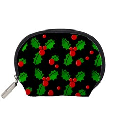 Christmas berries pattern  Accessory Pouches (Small)