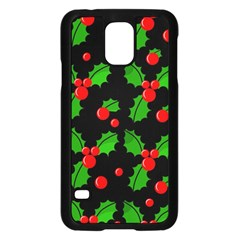 Christmas berries pattern  Samsung Galaxy S5 Case (Black)