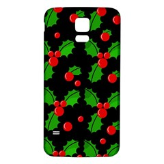Christmas berries pattern  Samsung Galaxy S5 Back Case (White)