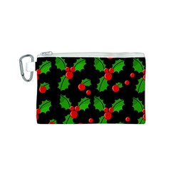 Christmas berries pattern  Canvas Cosmetic Bag (S)