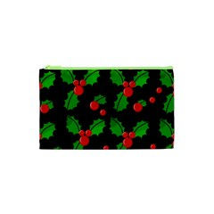 Christmas berries pattern  Cosmetic Bag (XS)