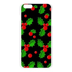 Christmas berries pattern  Apple Seamless iPhone 6 Plus/6S Plus Case (Transparent)