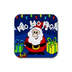 Santa Claus  Rubber Square Coaster (4 pack)
