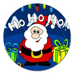 Santa Claus  Magnet 5  (round)