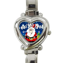 Santa Claus  Heart Italian Charm Watch