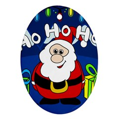 Santa Claus  Oval Ornament (Two Sides)