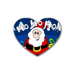 Santa Claus  Rubber Coaster (Heart)