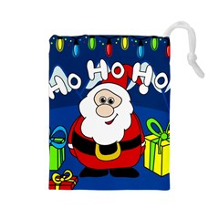 Santa Claus  Drawstring Pouches (Large)