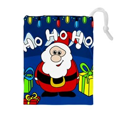 Santa Claus  Drawstring Pouches (Extra Large)