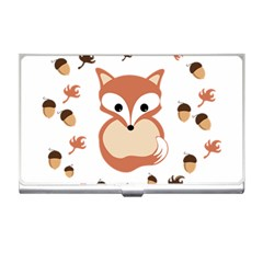 Fox In Autumn Business Card Holders