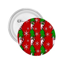 Christmas tree pattern - red 2.25  Buttons