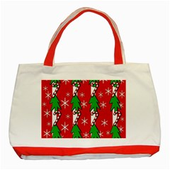 Christmas tree pattern - red Classic Tote Bag (Red)