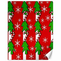 Christmas tree pattern - red Canvas 12  x 16