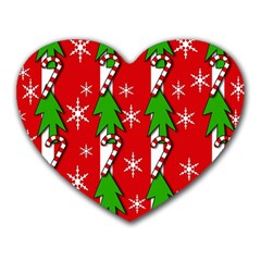 Christmas tree pattern - red Heart Mousepads