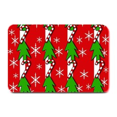 Christmas tree pattern - red Plate Mats