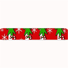 Christmas tree pattern - red Small Bar Mats