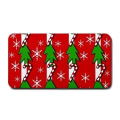 Christmas tree pattern - red Medium Bar Mats