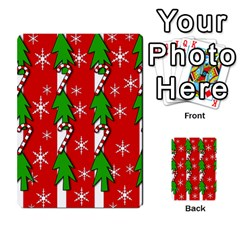 Christmas tree pattern - red Multi-purpose Cards (Rectangle)