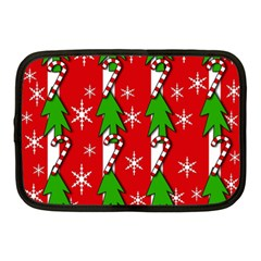 Christmas tree pattern - red Netbook Case (Medium)