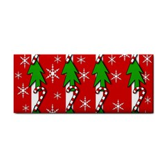 Christmas tree pattern - red Hand Towel