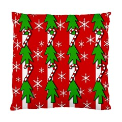Christmas tree pattern - red Standard Cushion Case (Two Sides)