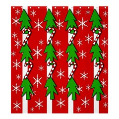 Christmas tree pattern - red Shower Curtain 66  x 72  (Large)